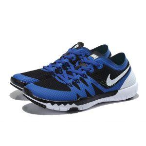 nike free 3.0 v3 flywire мъжки обувки за бягане кралско синьо черно бяло разпродажба
