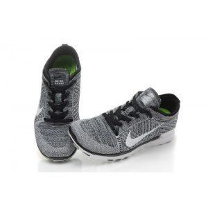 nike free 5.0 flyknit мъжки обувки за бягане черно бяло за продажба