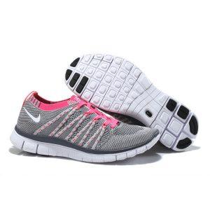 nike free 5.0 flyknit дамски обувки за бягане прасковено сиво на едро