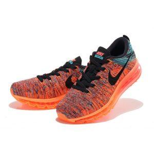 на едро nike air max 2014 мъжки обувки за бягане оранжеви черни