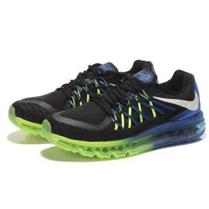 на едро nike air max 2015 мъжки обувки за бягане черни сини зелени