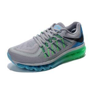на едро nike air max 2015 мъжки обувки за бягане светло сиво синьо зелено