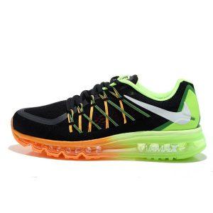 на едро nike air max 2015 дамски обувки за бягане черно оранжево флуоресцентно зелено