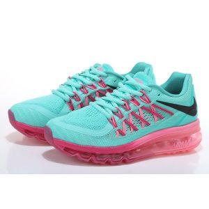 на едро nike air max 2015 дамски обувки за бягане нефрит праскова флуоресцентно зелено
