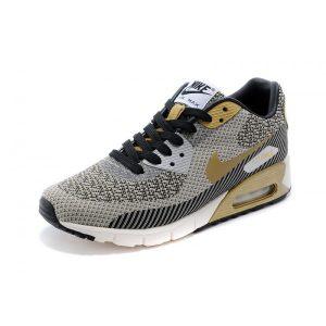 на едро nike air max 90 мъже обувки за бягане златисто сиво