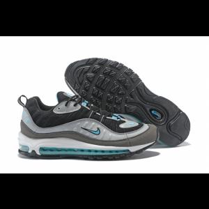 на едро nike air max 98 мъжки обувки черни сиви сини