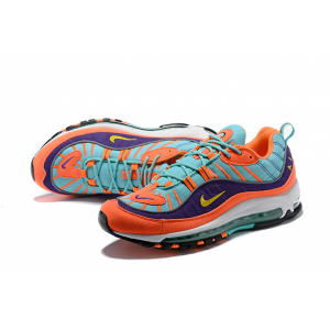 на едро nike air max 98 мъжки обувки оранжево синьо