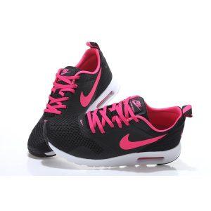 на едро nike air max thea print 2 дамски обувки за бягане черна праскова