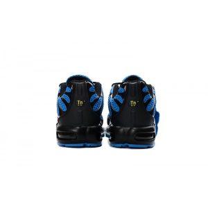 на едро nike air max tn мъжки обувки черно бяло синьо