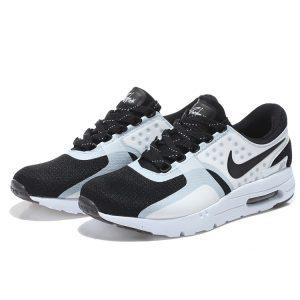 на едро nike air max zero мъжки обувки за бягане бели черни