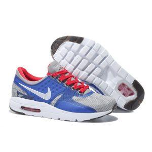 на едро nike air max zero дамски обувки за бягане червено синьо сиво