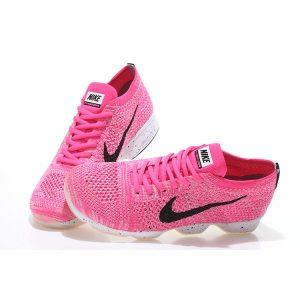 на едро nike air zoom fit agility flyknit дамски обувки за бягане розово черно