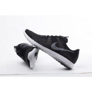 на едро nike flex series дамски обувки за бягане бели черни