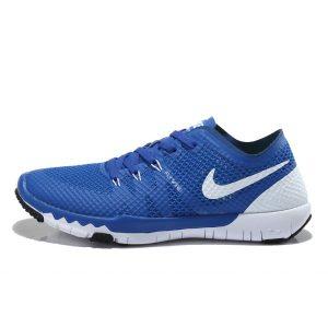 на едро nike free 3.o v3 flywire мъжки обувки за бягане кралско синьо бяло