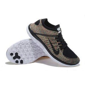 на едро nike free 4.0 flyknit мъжки обувки за бягане черни цветове