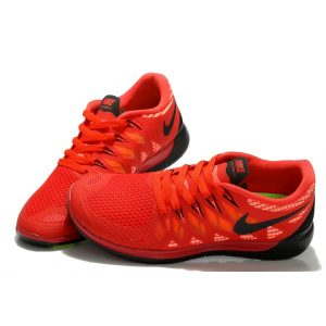 на едро nike free 5.0 мъжки обувки за бягане черно червено