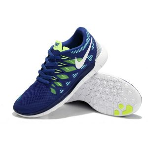 на едро nike free 5.0 мъжки обувки за бягане синьо флуоресцентно зелено бяло