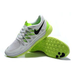 на едро nike free 5.0 мъжки обувки за бягане бяло флуоресцентно зелено