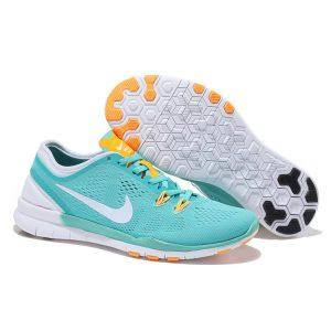 на едро nike free 5.0 v2 тренировъчни женски обувки за бягане зелен оранжев