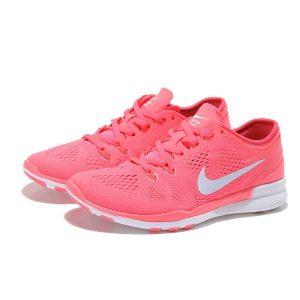 на едро nike free 5.0 v2 тренировъчни женски обувки за бягане розово бяло